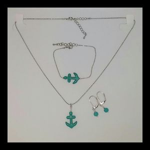 NEW Hand crafted Turquoise Anchor set